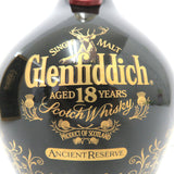 Unopened Glenfiddich 18 years black pottery 700ml with a box