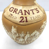 Unopened Grants 21 years pottery 750ml With box