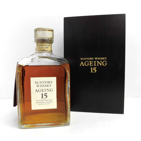 Unopened Suntory Suntory aging 15 years special grade rating 750 ml with a box