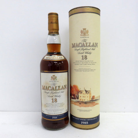 Unopened MACALLAN 18 years 1985 750ml With box