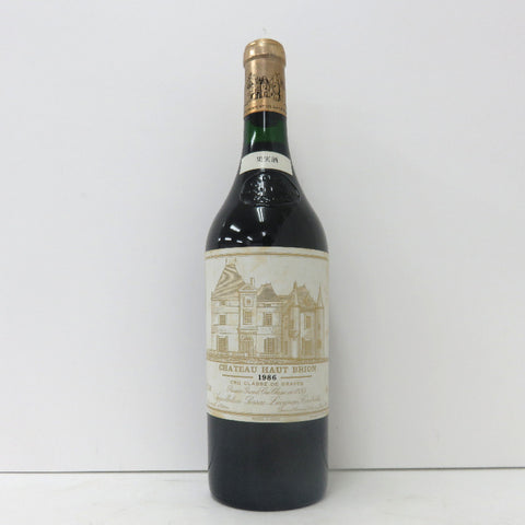 Unopened CHATEAU HAUT-BRION 1986 red 750 ml without box