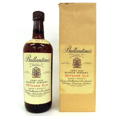 Not opened Ballantine's 30 years Very old red blue flag 750ml with a box