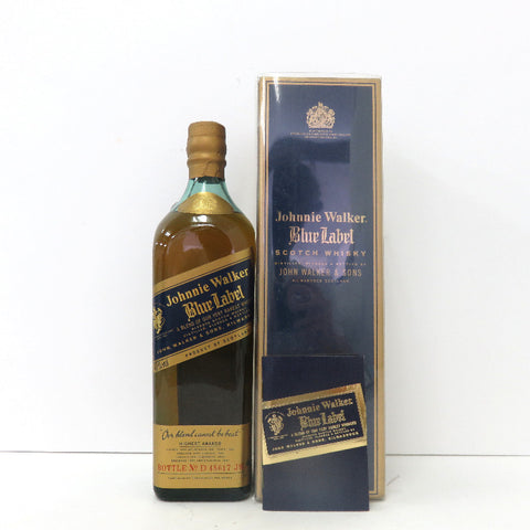 Unopened Johnny Walker blue label 750ml with a box
