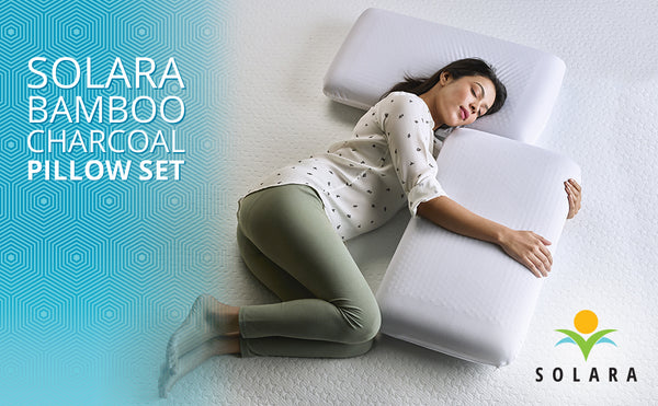 Bamboo Charcoal Pillow for cervical and neck pain