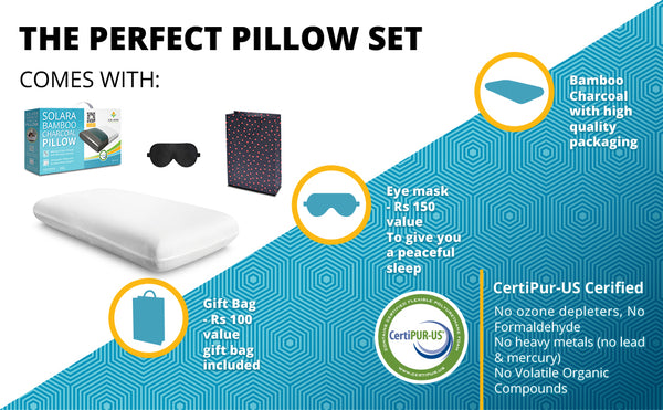 Bamboo Charcoal Pillow for cervical and neck pain 3