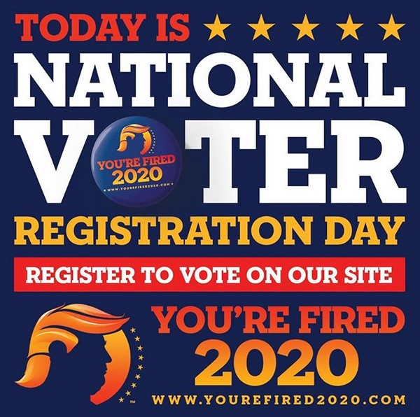 Today is National Voters Registration Day. Make Sure To Register Today!
