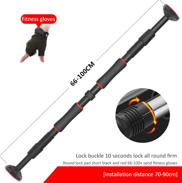 Door indoor horizontal bar fitness equipment pull-up door frame corridor corridor wall horizontal bar without drilling 66-100cm