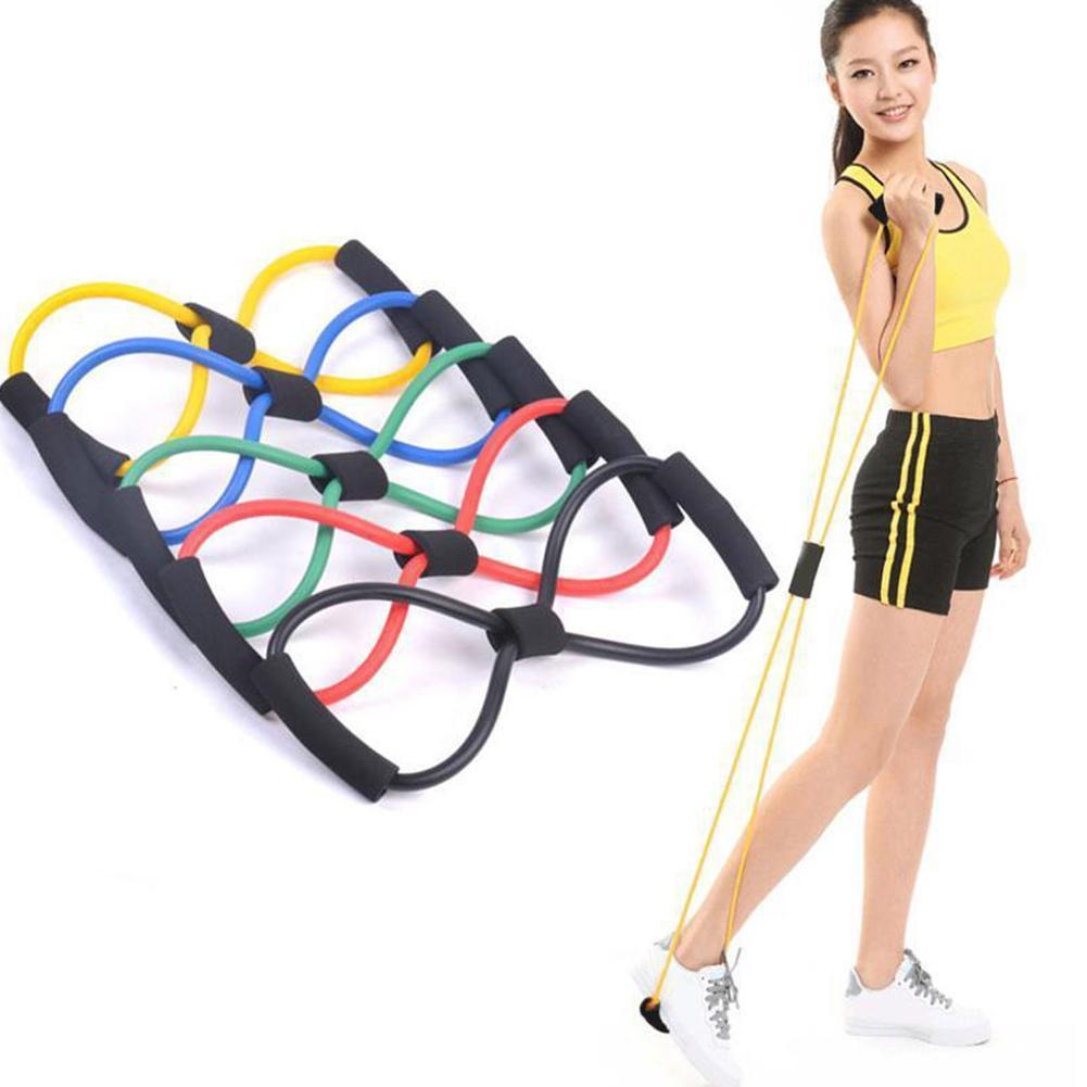 8 Word Fitness Rope Resistance Bands Rubber Bands For Fitness Workout Band Elastic Expander Equipment Exercise Train Fi O2Y8