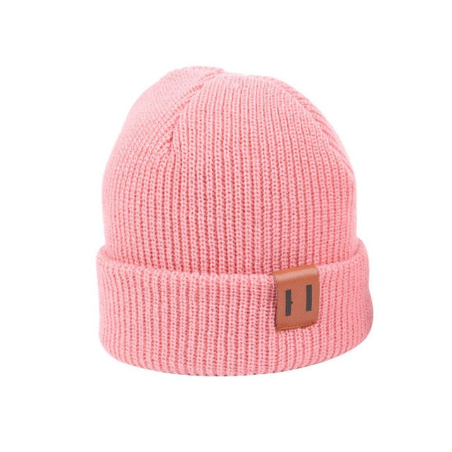 9 Colors S/L Baby Hat for Boy Warm Baby Winter Hat for Kids Beanie Knit Children Hats for Girls Boys Baby Cap Newborn Hat 1PC