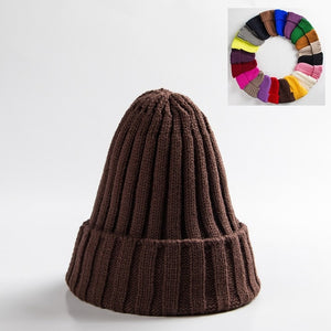 Unisex Hat Cotton Blends Solid Warm Soft HIP HOP Knitted Hats Men Winter Caps Women's Skullies Beanies For Girl Wholesale шляпа