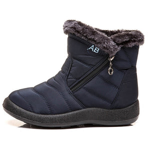 2021 New Women Boots Winter Snow Boots Waterproof Warm Plush Ankle Boots For Women Winter Boots Shoes Woman Booties Female 43 44