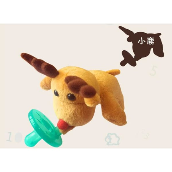 Baby Plush Toy Pacifier - Fawn