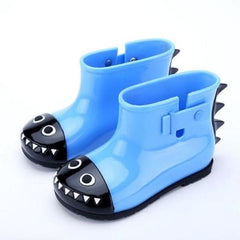 Dinosaur Rain Shoes For Children - Blue / 21