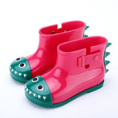 Dinosaur Rain Shoes For Children - Red / 21