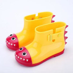 Dinosaur Rain Shoes For Children - Yellow / 21