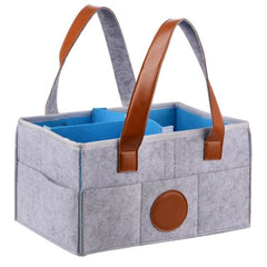 Foldable Baby Diaper Caddy Organizer - as pictures 2