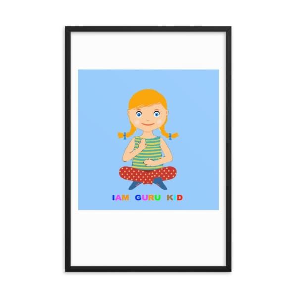 Framed IAM Guru Kid poster - decorations kids decor kids room kids room decor nursery decor