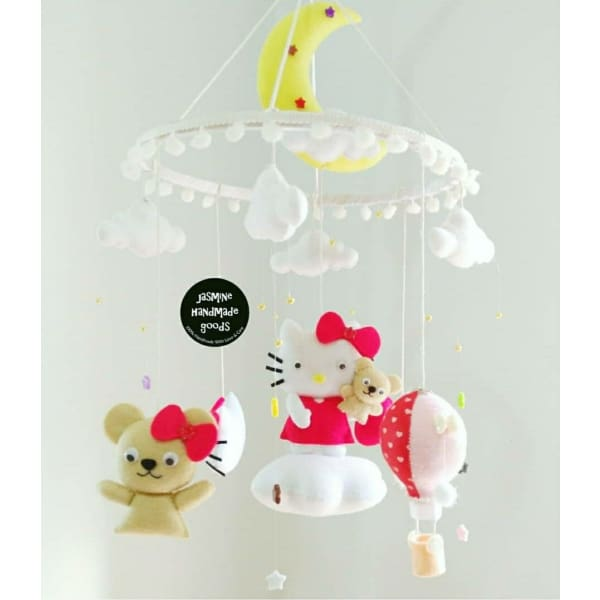 HAND CRAFTED HELLO KITTY NURSERY MOBILE