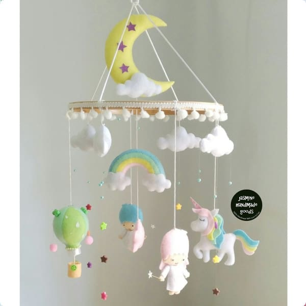 HAND CRAFTED TWINS BROTHERS NURSERY MOBILE