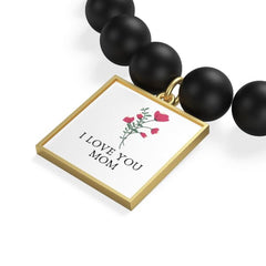 I LOVE YOU MOM Bracelet - Accessories Accessories Gold Jewellery Silver