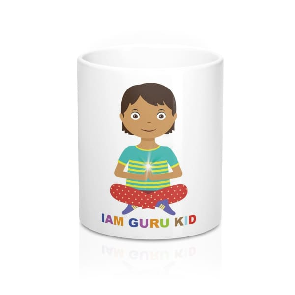 IAM GURU KID Mug - 11oz - Mug 11 oz Home & Living Mugs Sublimation White base