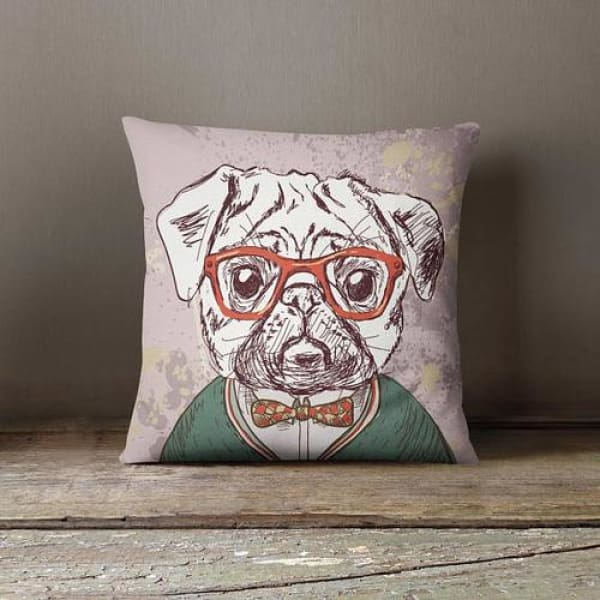 Kids Room Decor Throw Pillow Case - Funky Doggy - Home & Garden cushion case custom pillowcase decorative pillow hipster animal home decor