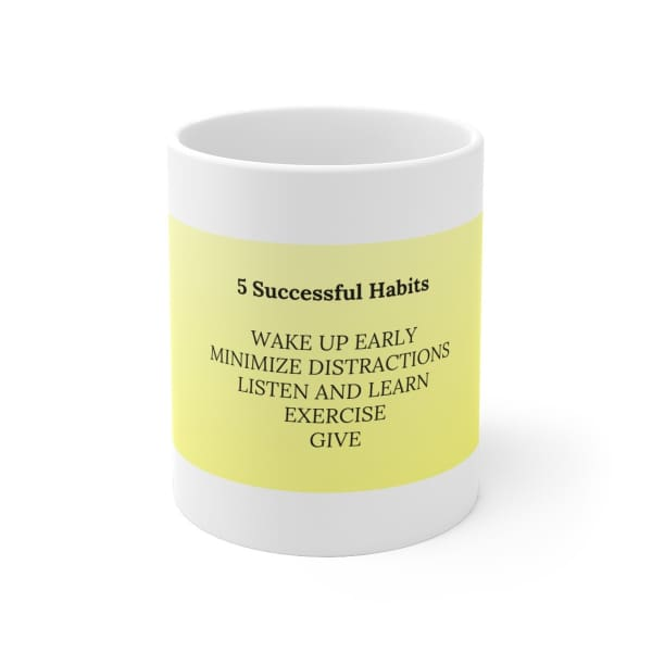 Mantras Mugs for Kids - 5 SuccessfulHabits - 11oz - Mug 11 oz 15 oz Home & Living Mugs White base