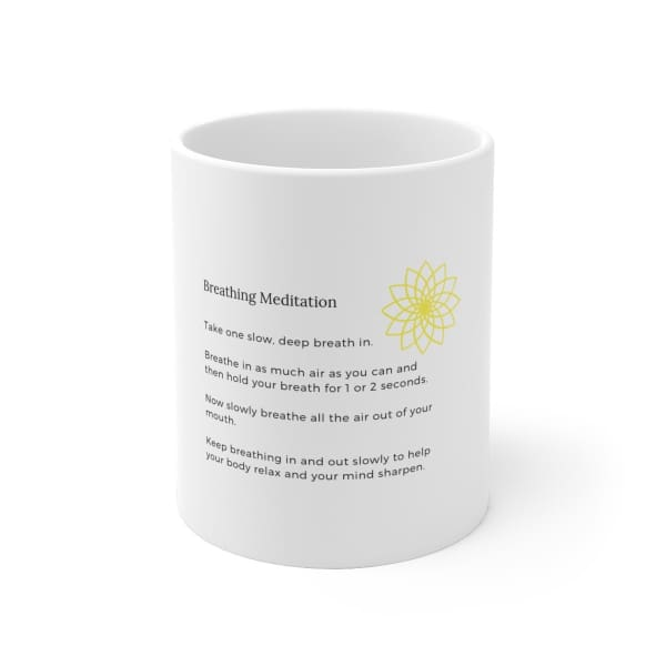 Mantras Mugs for Kids - Breathing Meditation - 11oz - Mug 11 oz 15 oz Home & Living Mugs White base