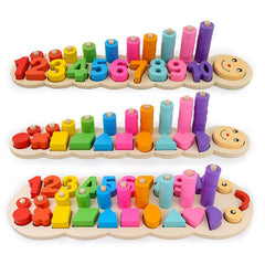 Counting and Stacking Wooden Math Toy
