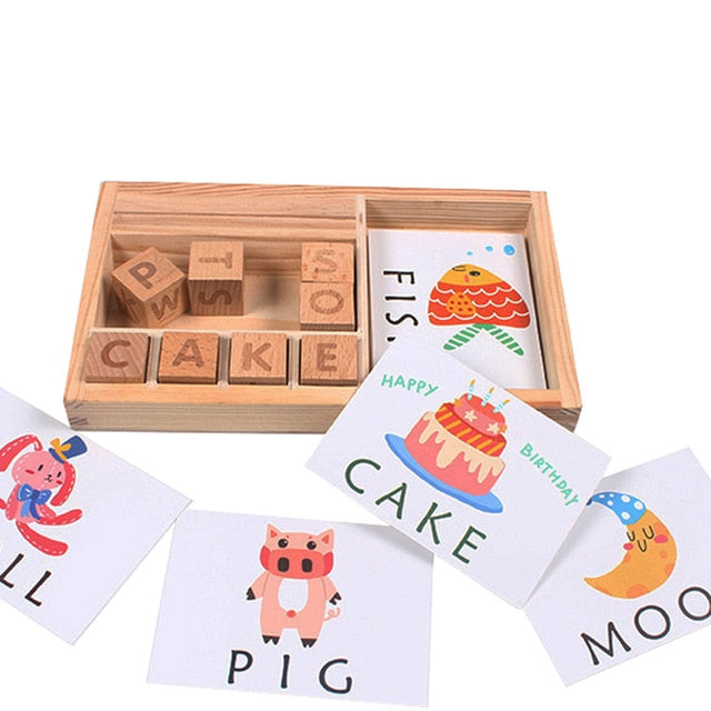 Wooden Puzzle Cards Educational Toy