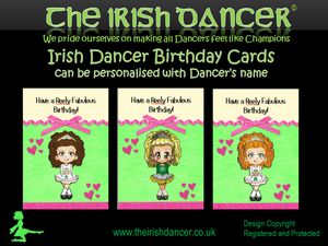 Irish Dancer Birthday Card