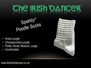 Sparkly Ultra Low Ankle Poodle Socks - Clear