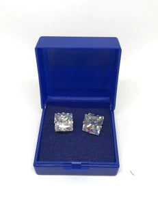 Square 10mm Crystal Stud Earrings