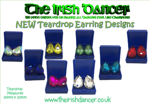 Teardrop Crystal Stud Earrings