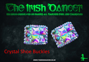 Crystal Shoe Buckles - Small Square Centre Design