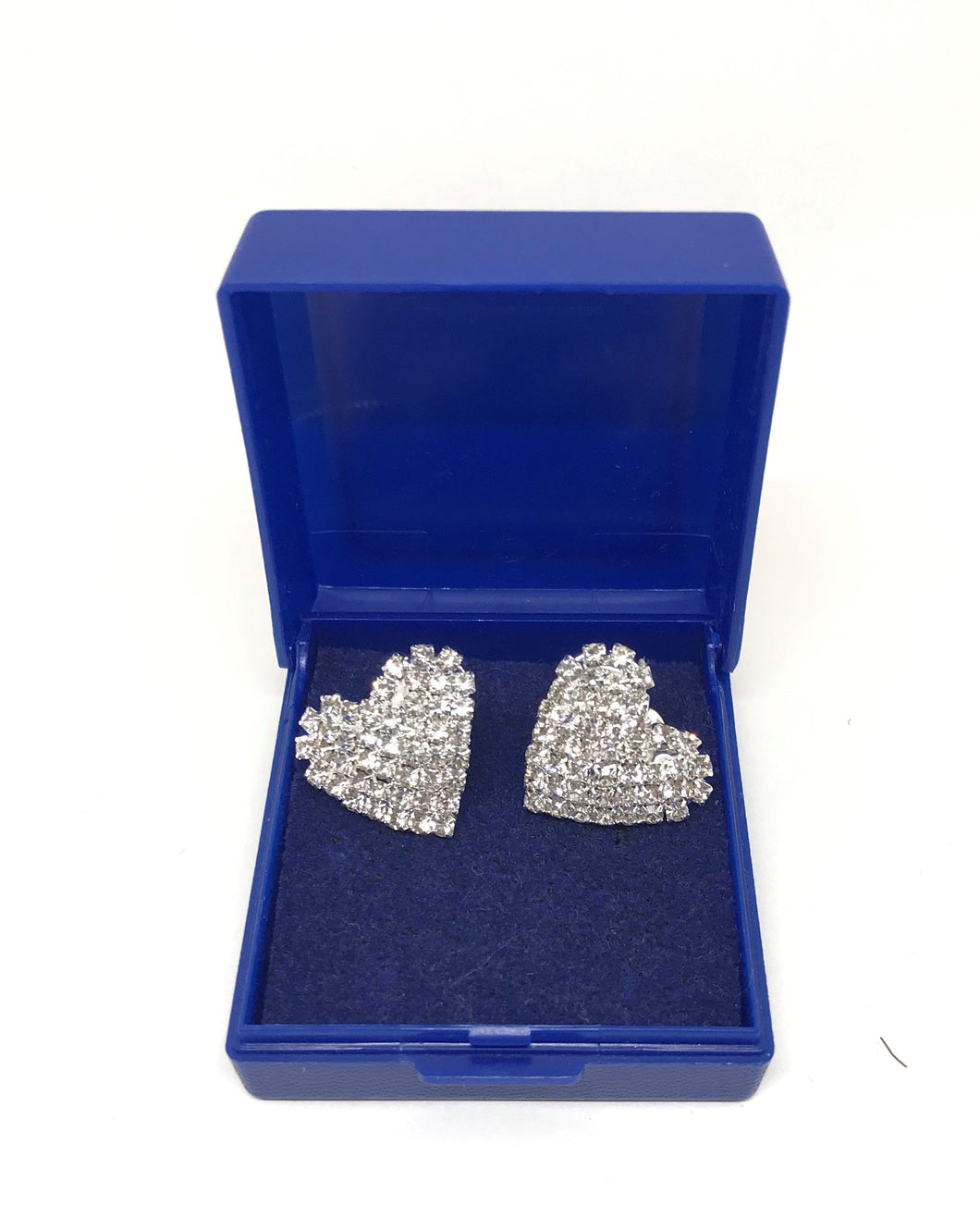 Heart Shape Crystal Stud Earrings