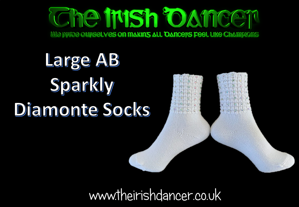 Sparkly Ultra Low Ankle Poodle Socks - Large AB stones