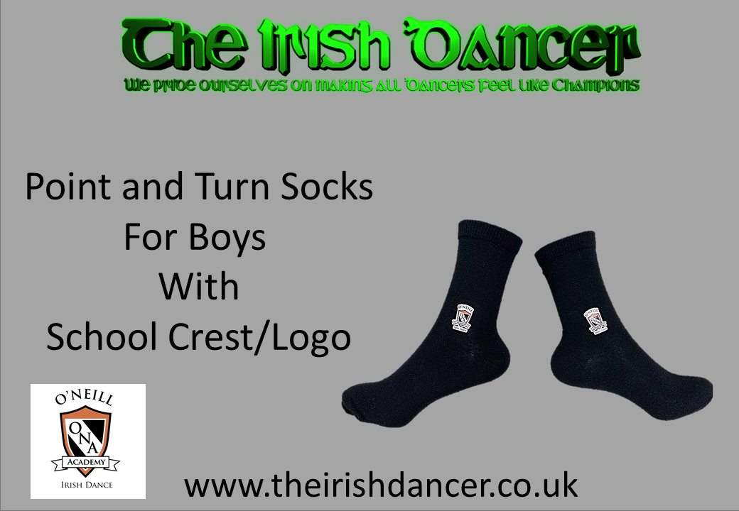 O'Neill Academy - BOYS Point and Turn School Crest/Logo Poodle Socks