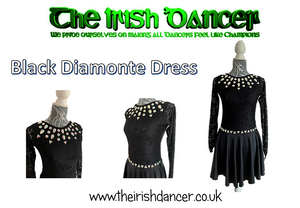 Diamonte Long Sleeve Dance Leotard/Dress (It is recommended to order a size up)