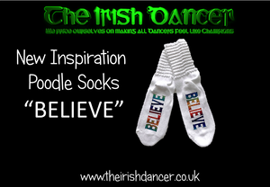"Inspiration Poodle Socks ""BELIEVE"" - Ultra Low"