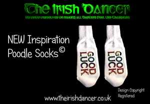 "Inspiration Poodle Socks ""GOOD LUCK"" - Ultra Low"