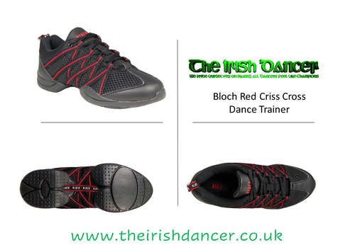 Bloch Criss Cross Red Dance Sneaker