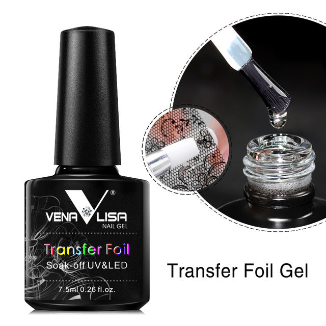 Venalisa™ Nail Gel Polish Transfer Foil Gel and Transfer Foils