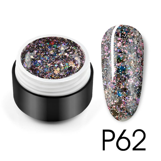 2020 Starry Platinum Glitter Effect Nail Painting Gel