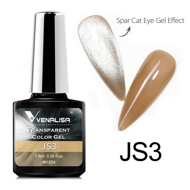 Venalisa™ 7.5ml Transparent Color Cat Eye Effect Nail Gel Polish