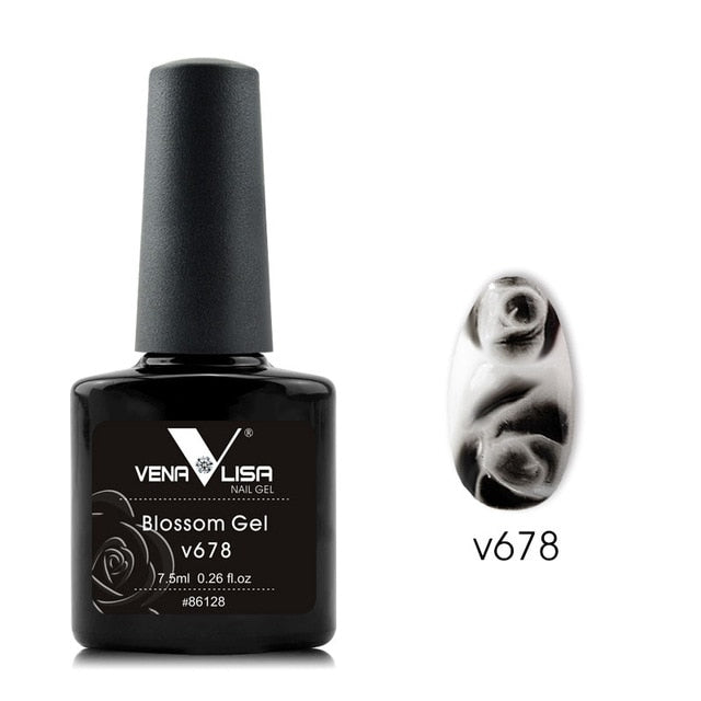 Venalisa™ 7.5ml Rose Flower Blooming Effect Nail Gel Polish