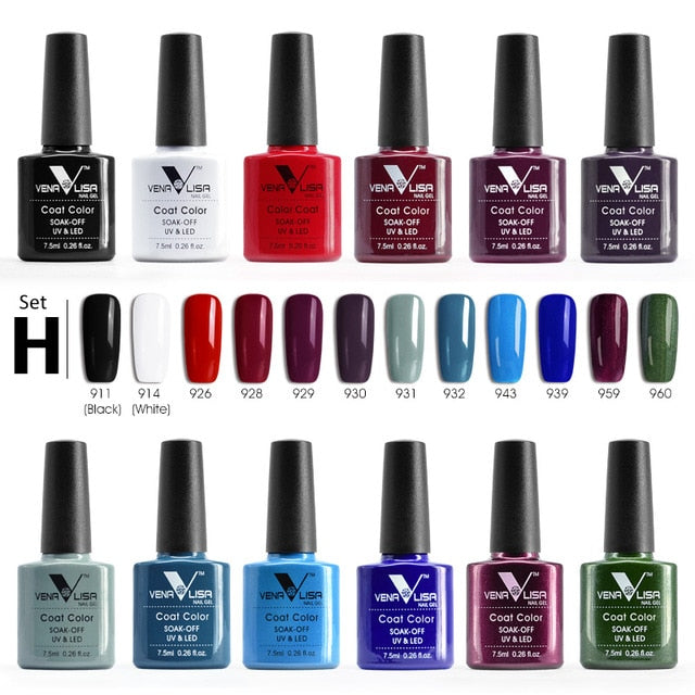 Venalisa™ 12pcs 7.5ml LED UV Gel Nail Polish Set