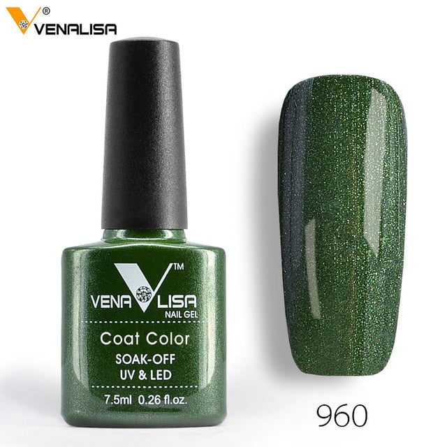 Venalisa™  7.5ml 60 Color Soak off Organic UV LED Nail Gel Varnish