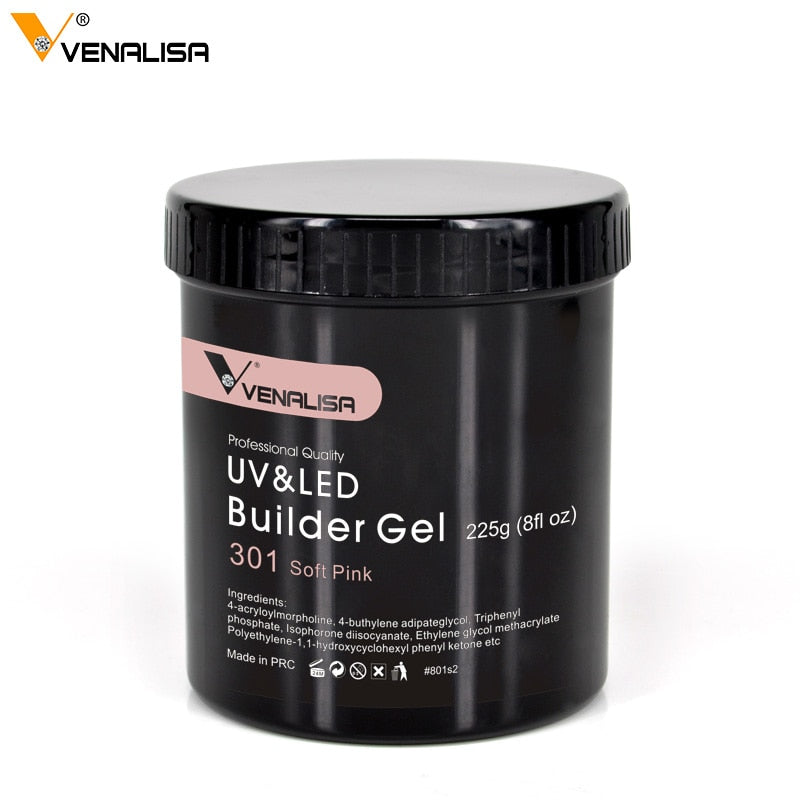 Venalisa™ 225g Camouflage Color Nail Extending Clear Builder Gel