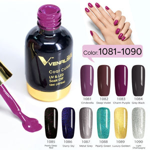 Venalisa™ 12ml 10 Colors Nail Gel Polish Set